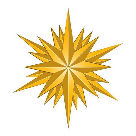 A forma di stella isolata