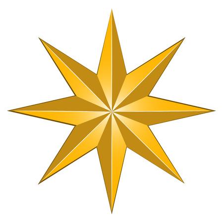 Izolowane kształt gwiazdy, cyfrowo wygenerowany obraz na obchody Bożego Narodzenia Ilustracje wektorowe