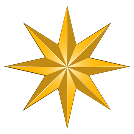 Isolated star shape, a digitally generated image for Christmas celebration