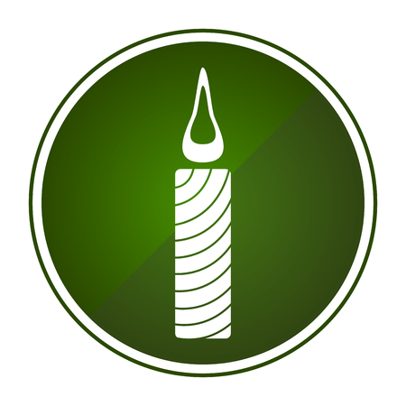 Christmas candle icon a digitally generated image for Christmas celebration