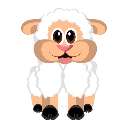 Isolated cute sheep Illustration