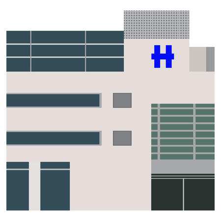 Isolated hospital building Stock Photo