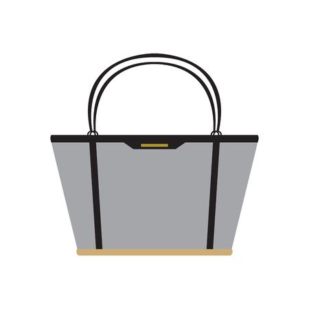 Isolated fashion handbag