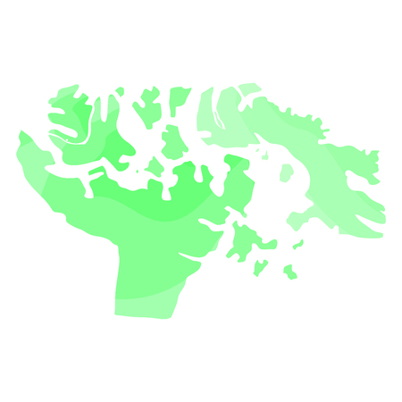 Political map of the territory of Nunavut, Vector illustration