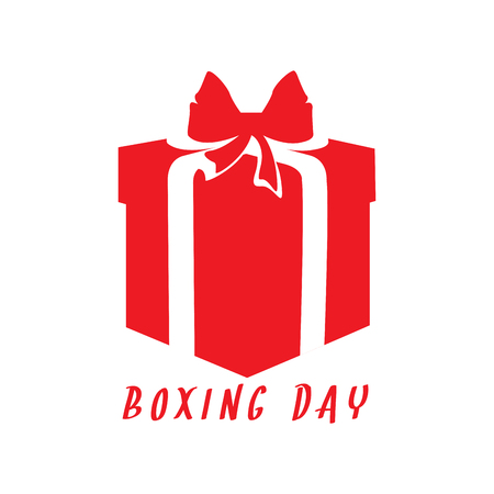 Boxing day graphic design with text.