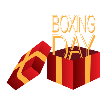 Boxing day graphic design.