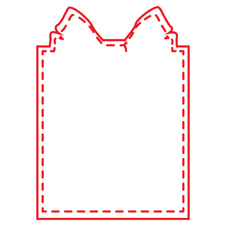 Label with a present shape