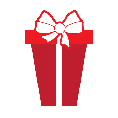 Isolated wrapped present Illustration