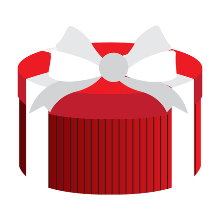 Wrapped present on a white background, Vector illustration Illustration