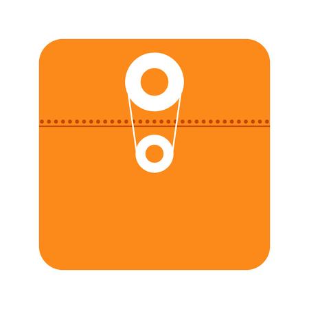 File app icon isolated on white background vector illustration Stock Illustratie