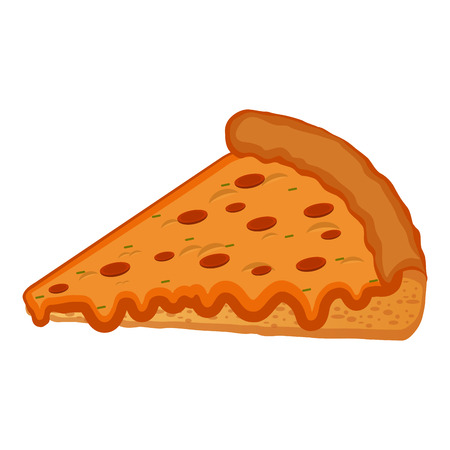 Isolated pizza slice on a white background vector illustration