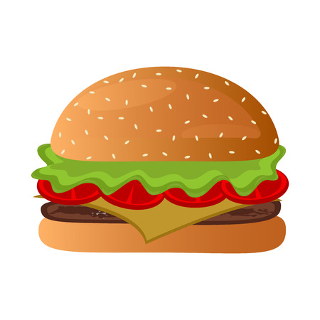Isolated burger icon on a white background vector illustration Illustration