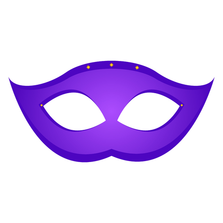 Mardi gras mask icon on white background illustration. Illustration