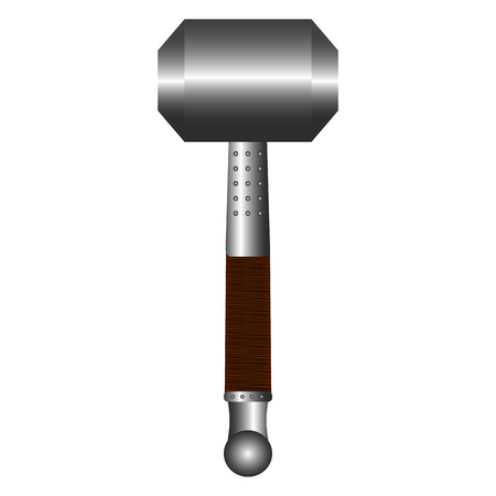 Isolated hammer weapon icon on white background illustration. Vectores