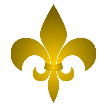Fleur de lys symbol on a white background, Vector illustration