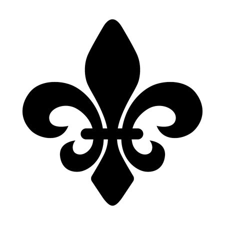 Fleur de lys symbol on a white background, Vector illustration