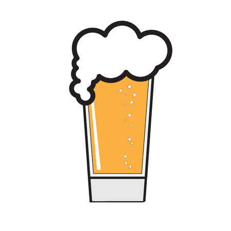 Beer glass icon on a white background, Vector illustration