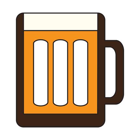Beer mug icon on a white background, Vector illustration Illustration
