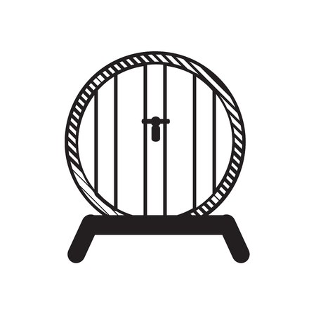 Beer barrel outline illustration. Illustration