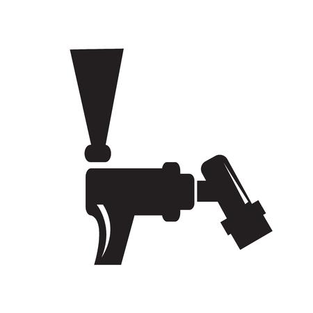 Beer faucet silhouette illustration. Illustration