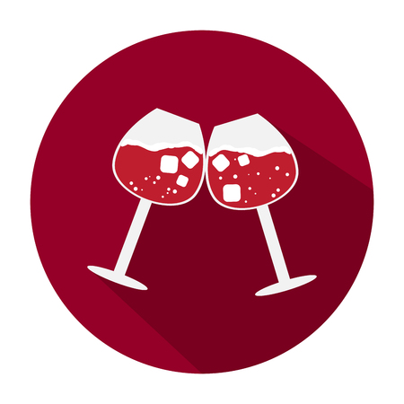 Isolated cocktail icon illustration.