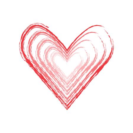 Isolated grudge heart shape illustration.