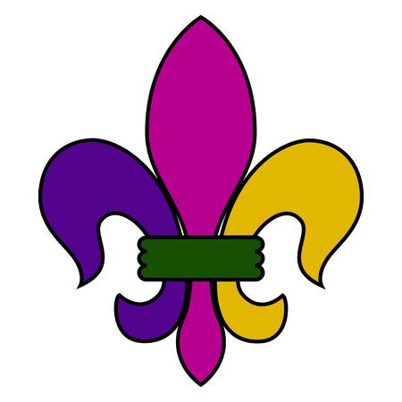 Fleur de lys icon illustration. Illustration