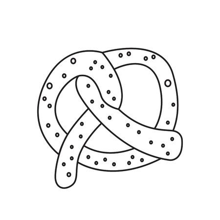 Isolated pretzel outline