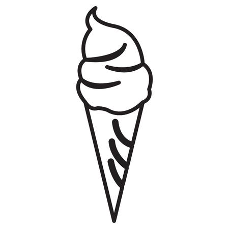 Ice cream outline Stock Illustratie