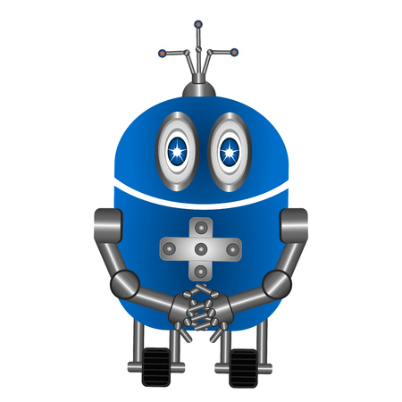 Isolated cute robot