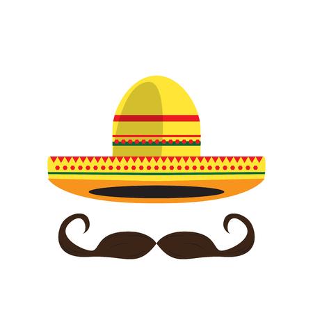 Mexican hat icon Vectores