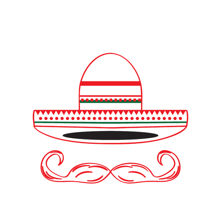 Mexican hat icon, Cinco de Mayo, Vector illustration Illustration