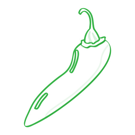 Isolated pepper icon