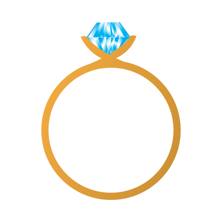 Isolated ring icon