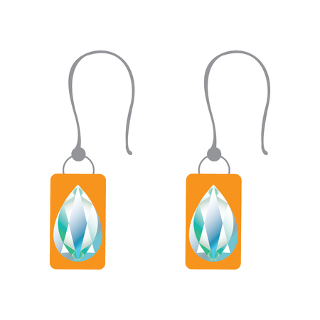 Pair of earrings 矢量图像