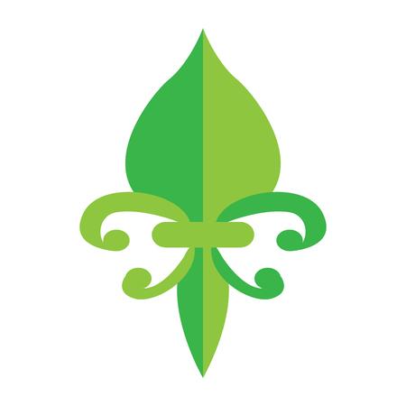 Fleur de lys design illustration.