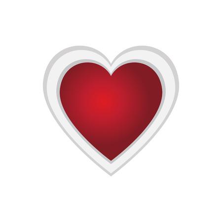 Heart shape valentine day image vector illustration design Vectores