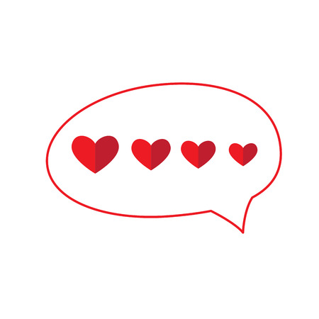 Bubble chat with hearts