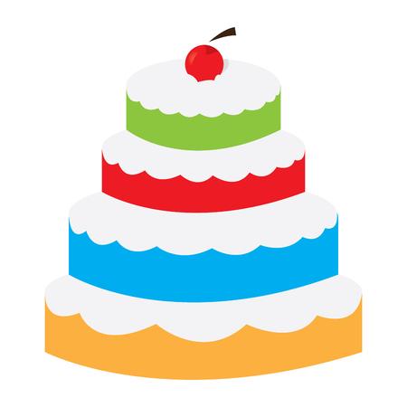 Isolated layer cake image. Vector illustration design Vettoriali