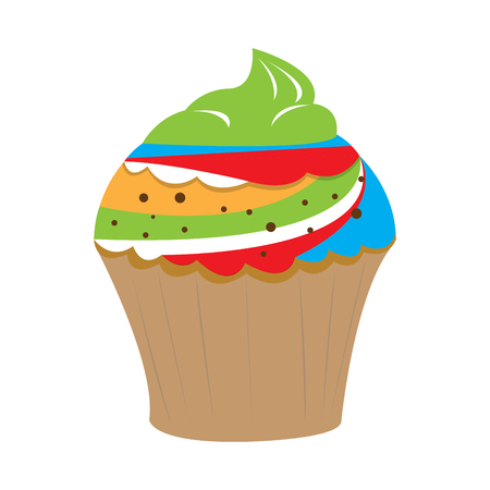 Isolated colored cupcake image. Vector illustration design