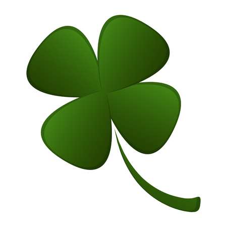 Four leaf clover for St. Patricks day. Vector illustration design