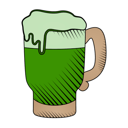 Beer mug with foam icon