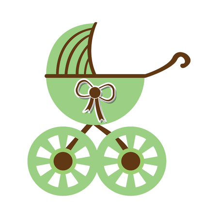 Baby stroller icon illustration.
