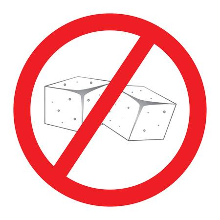 금지 된 설탕 기호 그림입니다. 일러스트