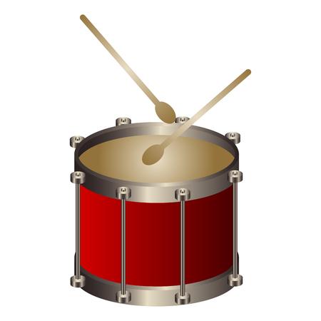 Isolated drum. Musical instrument. Vector illustration design