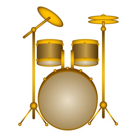 Isolated drum set. Musical instrument. Vector illustration design