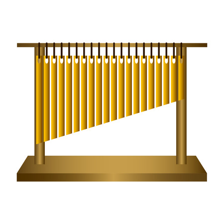 Isolated tubular bells. Musical instrument. Vector illustration design