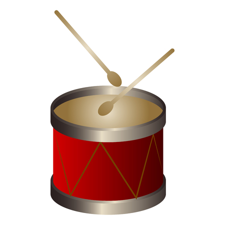 Isolated drum. Musical instrument