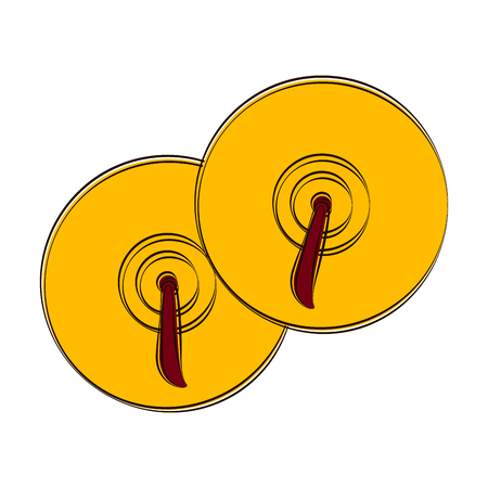 Sketch of cymbals. Musical instrument. Vector illustration design Illustration