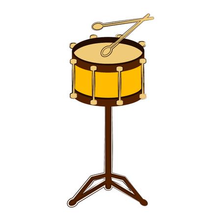 Sketch of a drum. Musical instrument. Vector illustration design